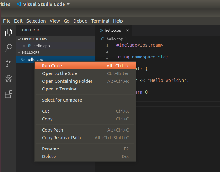 VSCode - C/C++ - File Run