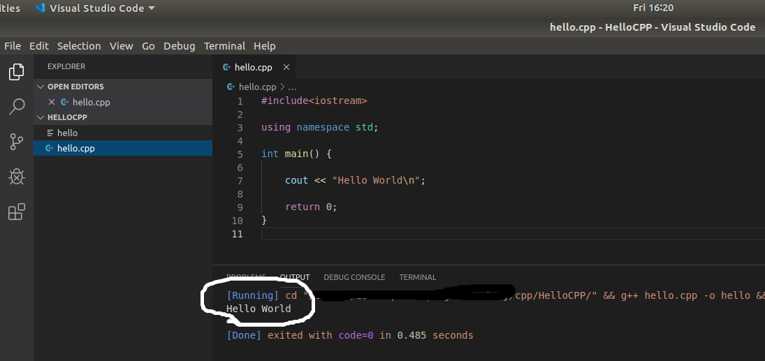 VSCode - C/C++ - File Output