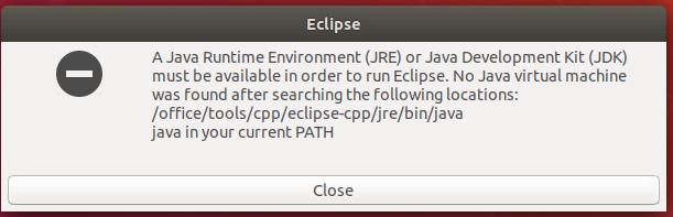 Eclipse - C/C++ - Missing Java