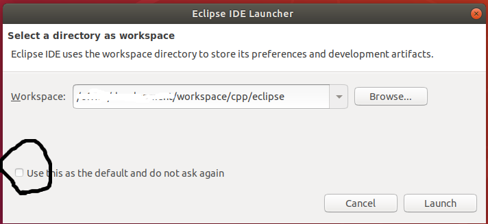 Eclipse - C/C++ - Workspace