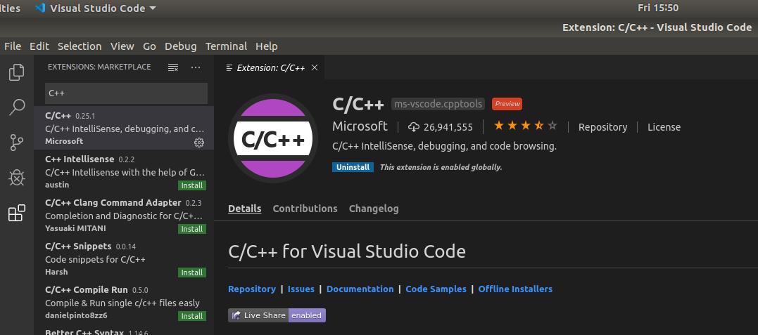VSCode - C/C++ - Extension