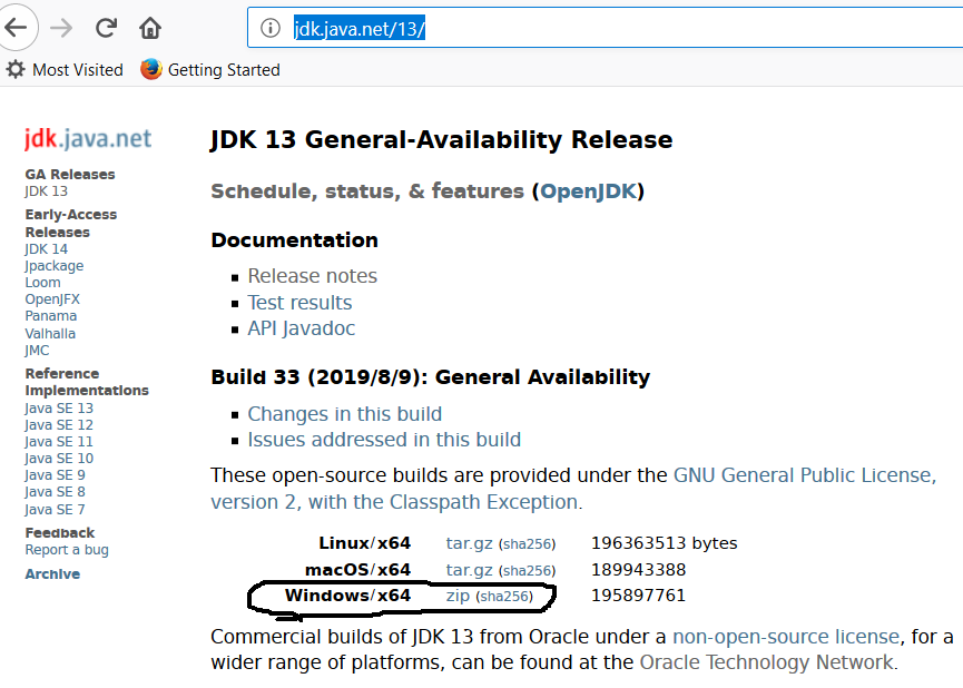 OpenJDK 13 Download