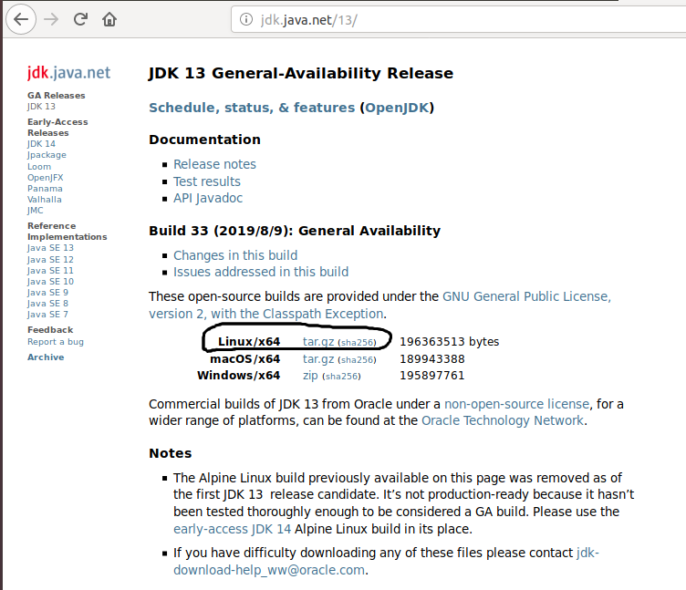 OpenJDK 13 Download