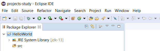 Eclipse for Java - Project Default