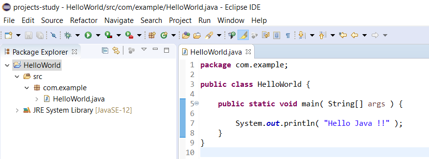 Eclipse for Java - Class Updated