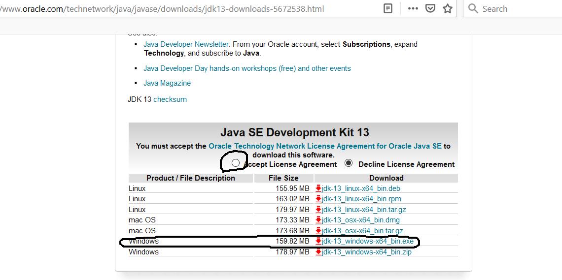 Java 13 - Windows - Download