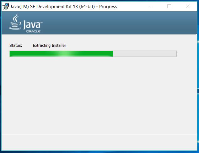 Java 13 - Windows - Progress