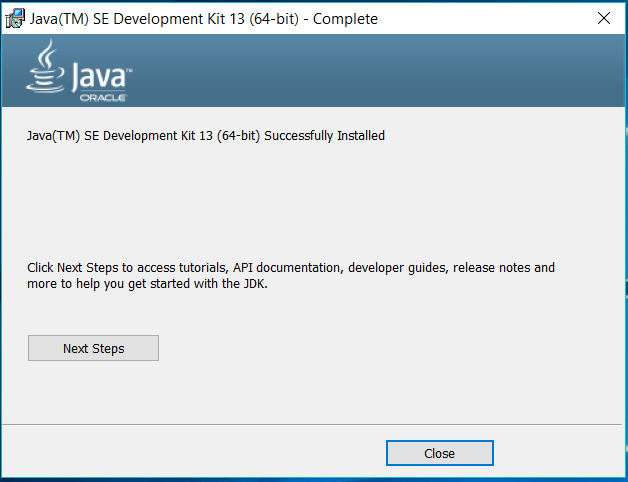 Java 13 - Windows - Installed