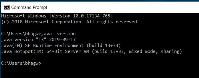 Java 13 - Windows - Test Version