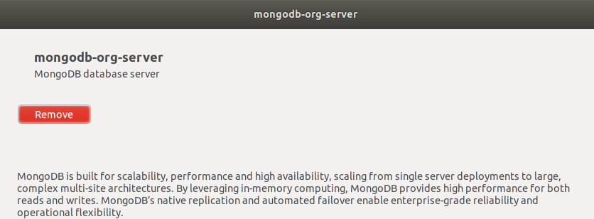MongoDB Installed