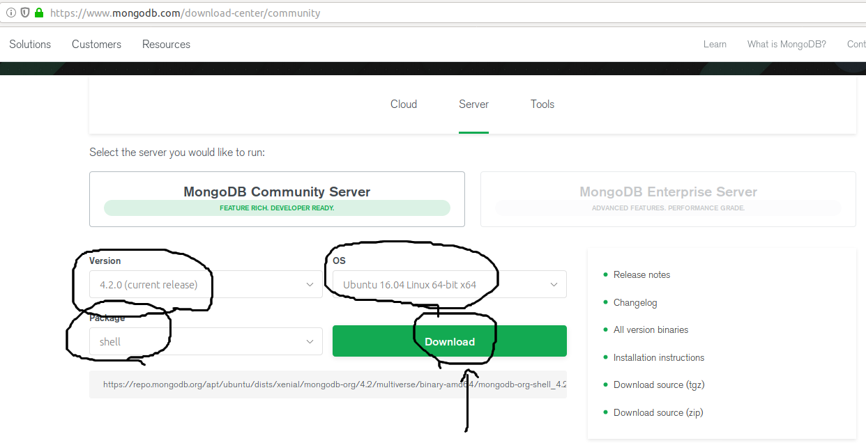 MongoDB Shell Download