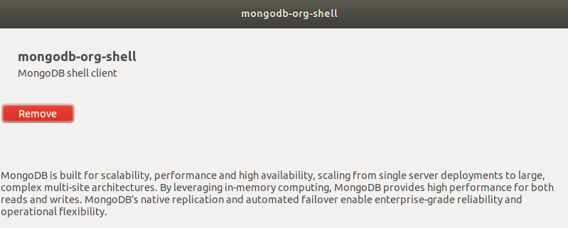 MongoDB Shell Installed