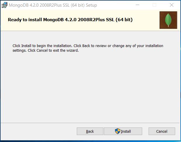 MongoDB Confirm Installation