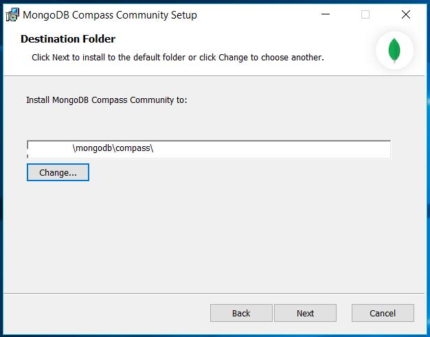 MongoDB Compass Path