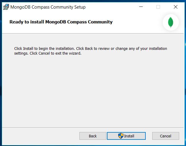 MongoDB Compass Confirm
