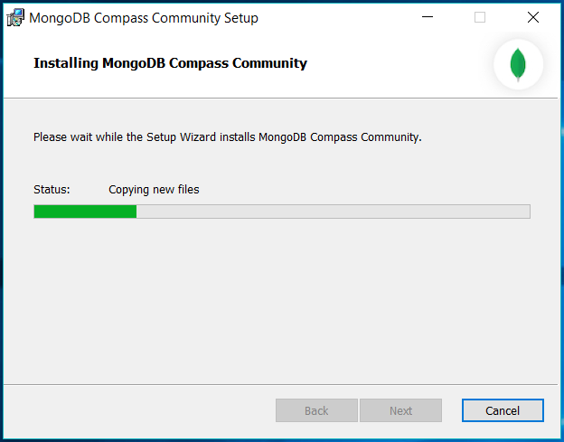 MongoDB Compass Progress