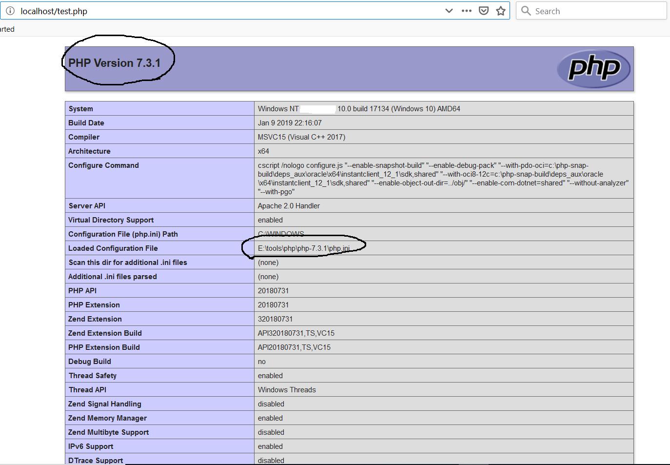 PHP Configure Apache