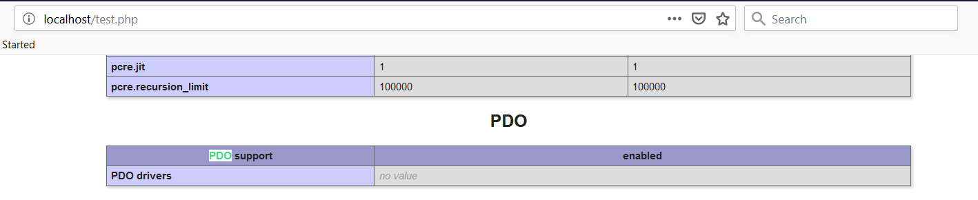 PHP Windows COnfigure PDO