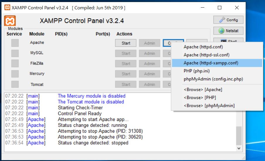 XAMPP Apache Config