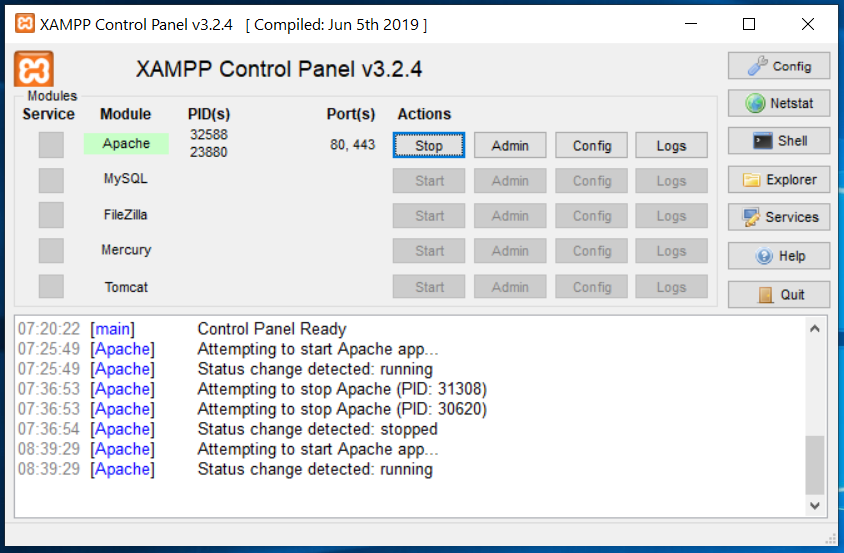 XAMPP Apache Status