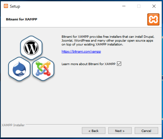 XAMPP Bitnami Options
