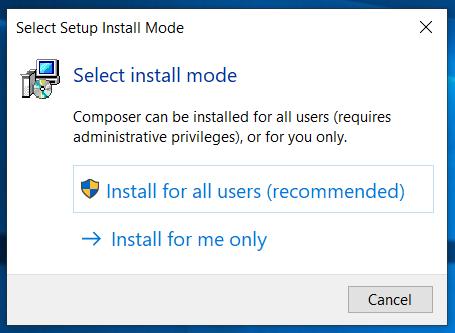 Composer Install Mode