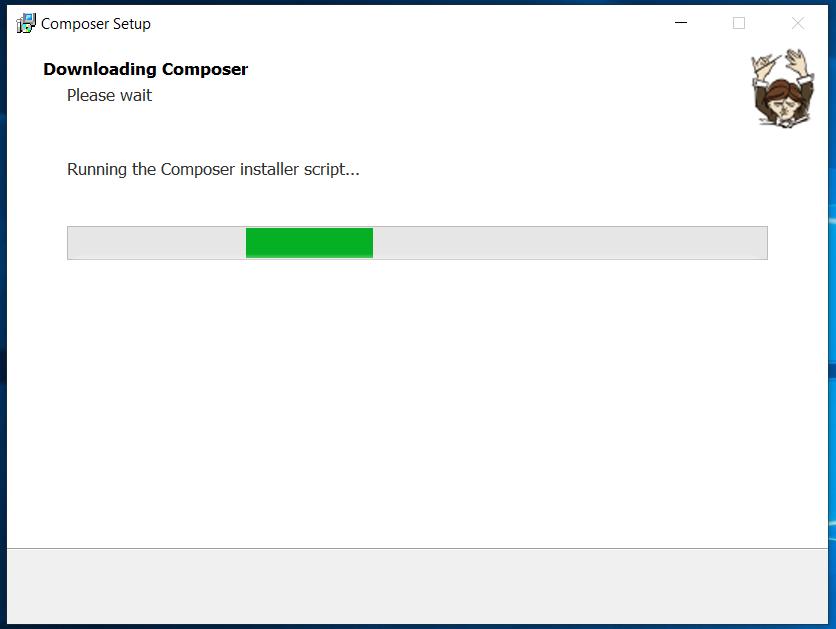 Composer Install Progress