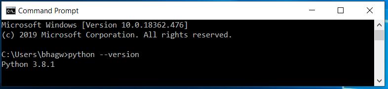 Python CMD