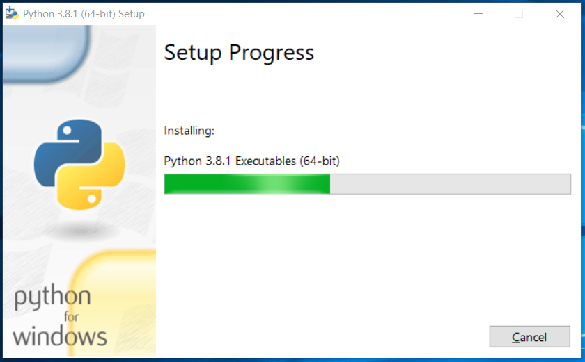 Python Installation Progress