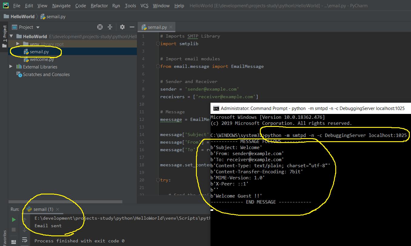 Python Email Output