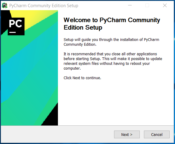 PyCharm Welcome