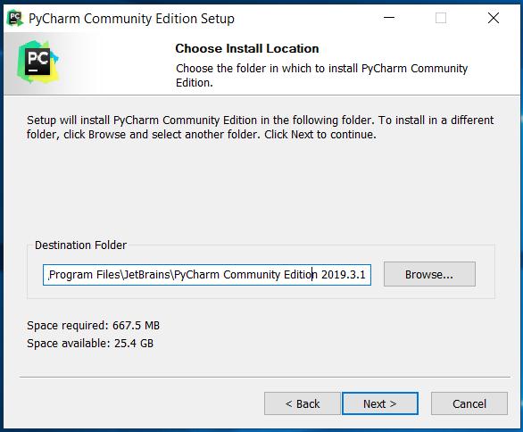 PyCharm Installation Path
