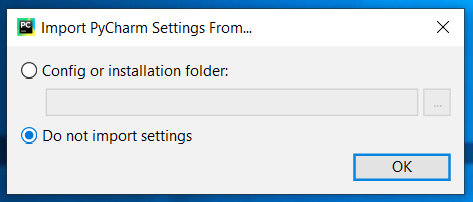 PyCharm Import Settings