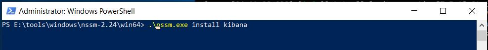 Kibana Install PowerShell