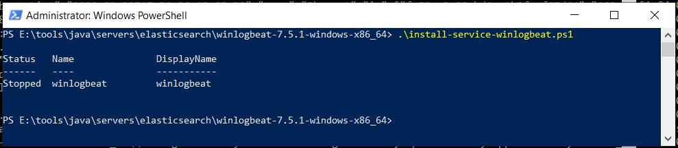 Winlogbeat PowerShell Install Service