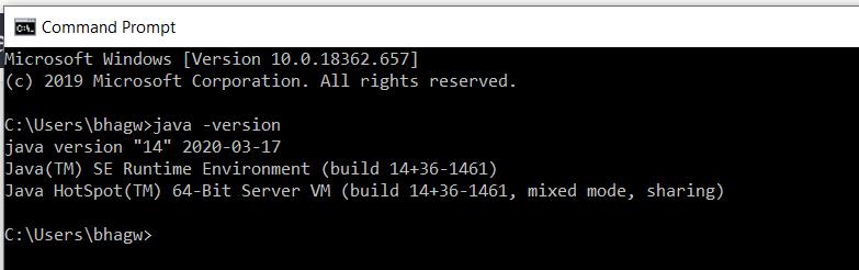 Java 14 Version Test