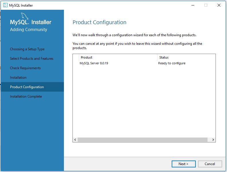 MySQL 8 Install Configure