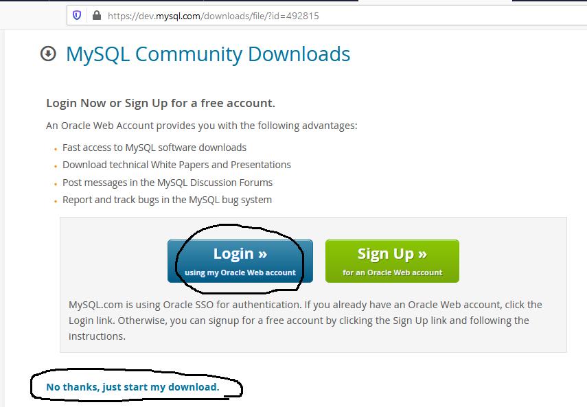 MySQL 8 Download Options