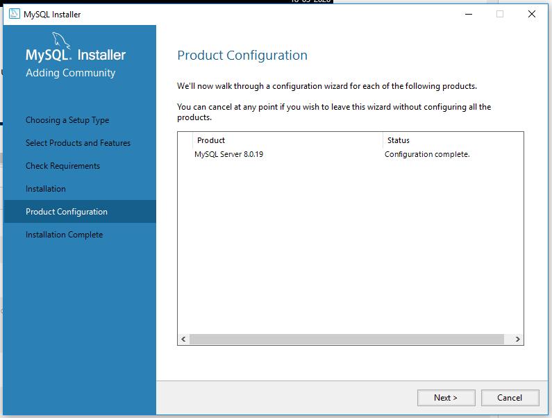 MySQL 8 Installation - Configured