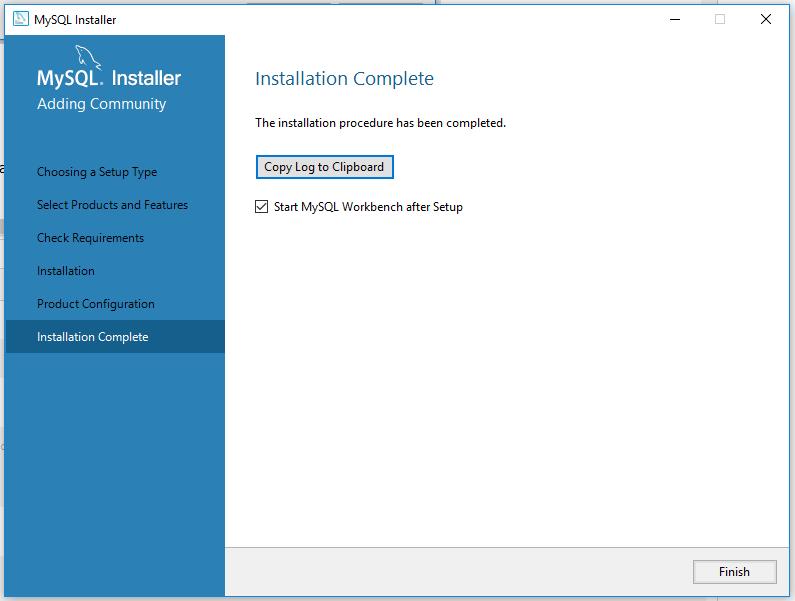 MySQL 8 Installation - Completed