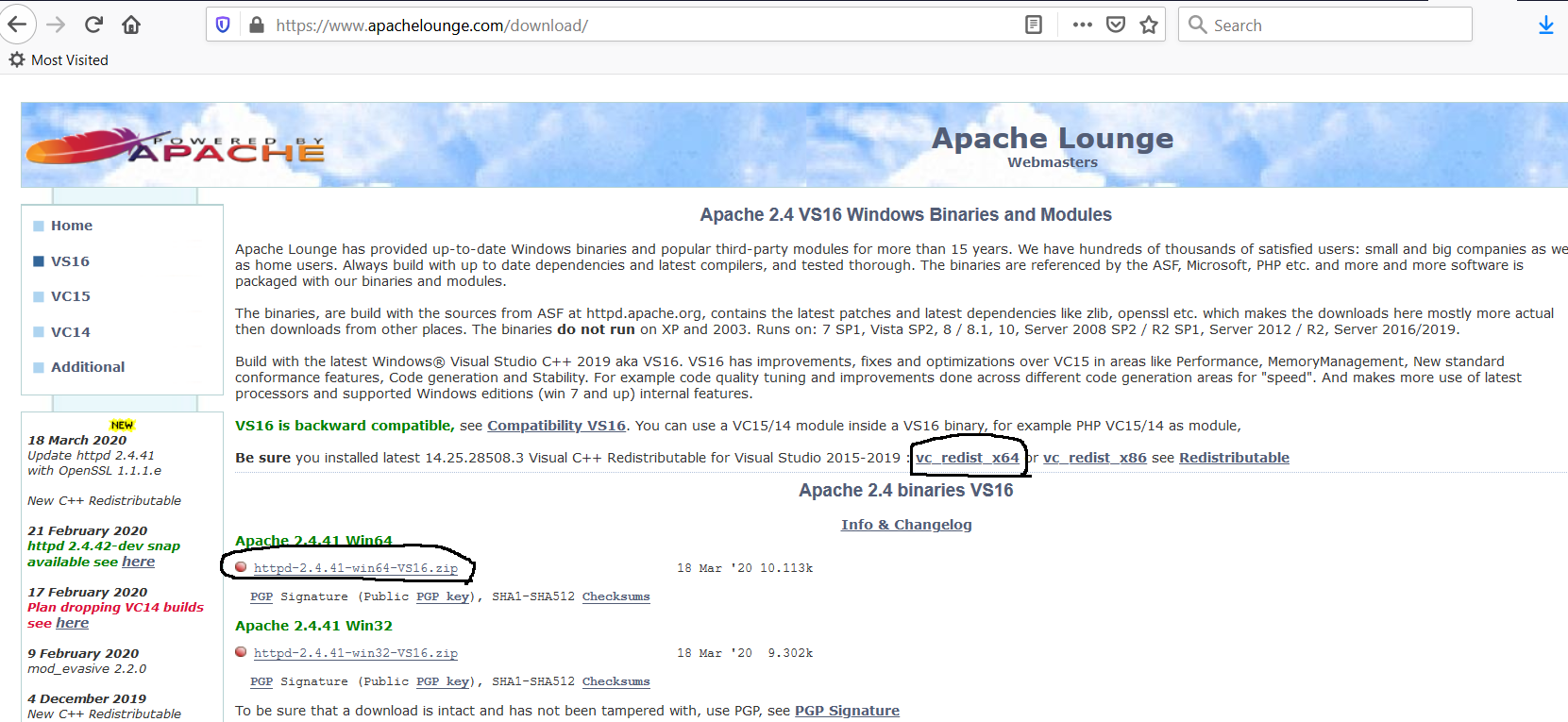 Apache Download from Lounge