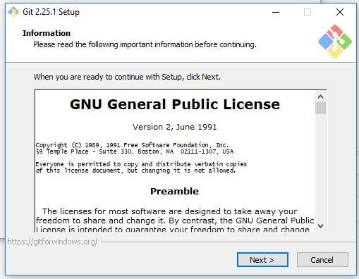 Git License Details