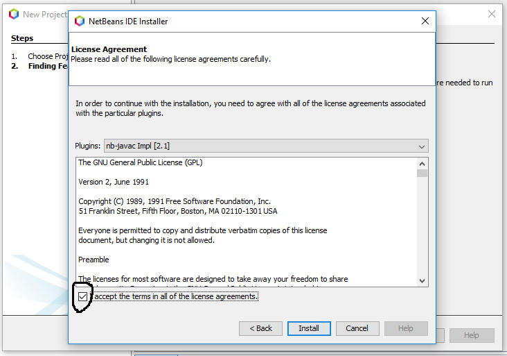 NetBeans 11 - License Agreement