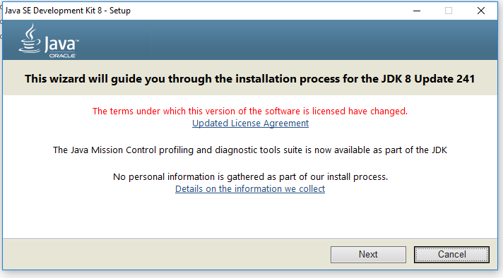 Java Installation - Welcome