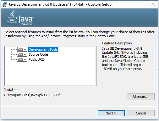 Java Installation - Location