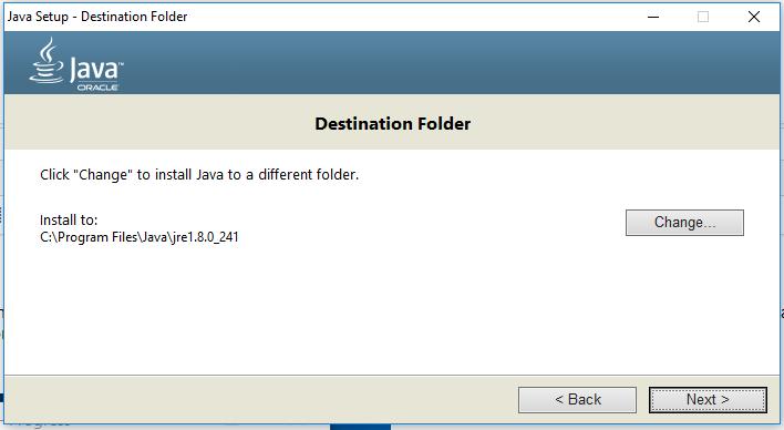 Java Installation - JRE