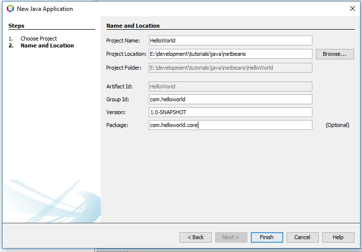 NetBeans 11 - Project Configuration