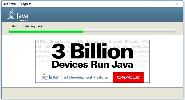 Java Installation - Progress