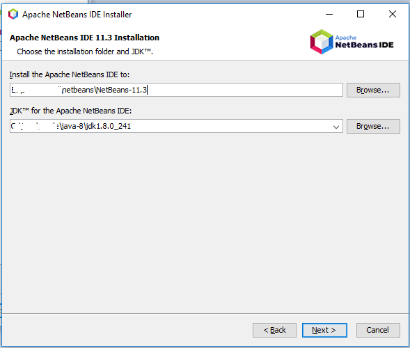 NetBeans 11 Installation - Paths