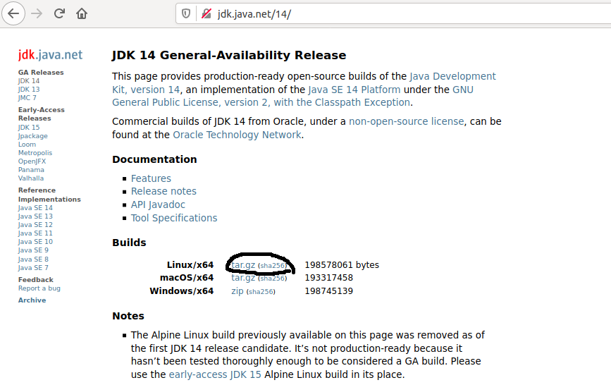 Download OpenJDK 14